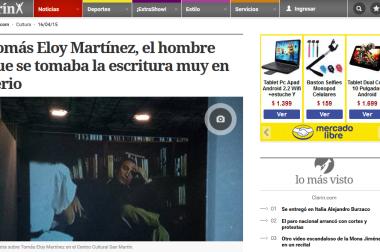 Tomás Eloy Martínez, el hombre que se tomaba la escritura muy en serio