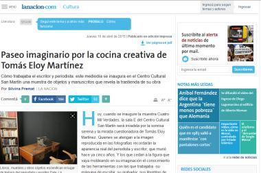 Paseo imaginario por la cocina creativa de Tomás Eloy Martínez