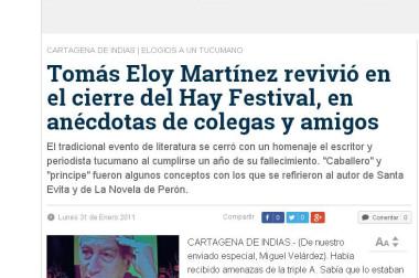 Tomás Eloy Martínez revivió en el cierre del Hay Festival, en anécdotas de colegas y amigos