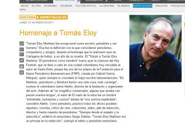 Homenaje a Tomás Eloy
