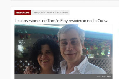 Las obsesiones de Tomás Eloy revivieron en La Cueva