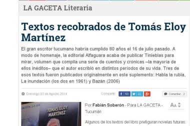 Textos recobrados de Tomás Eloy Martínez