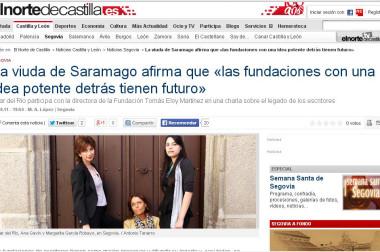 La viuda de Saramago afirma que «las fundaciones con una idea potente detrás tienen futuro»