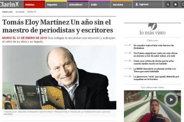 Tomás Eloy Martínez Un año sin el maestro de periodistas y escritores
