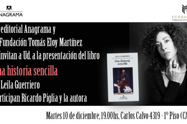 10/12: presentación de Una historia sencilla, de Leila Guerriero