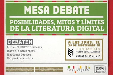 Mesas debate sobre literatura digital