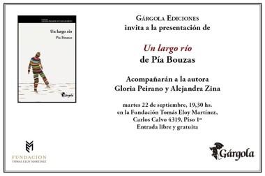 Pía Bouzas su presenta nuevo libro en Fundación TEM