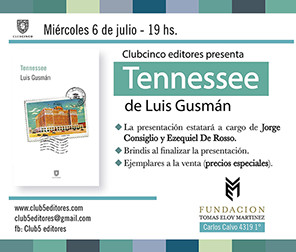 "Presentación de ""Tennessee"" de Luis Gusmán en Fundación TEM"