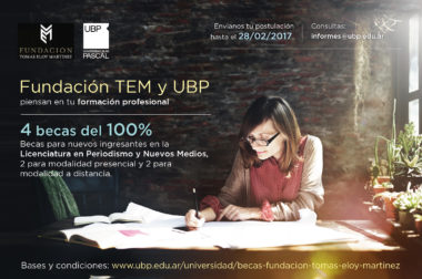 Becas Fundación TEM para estudiar en la Universidad Blas Pascal
