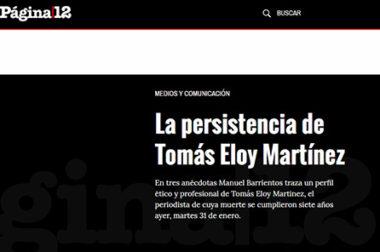 La persistencia de Tomás Eloy Martínez