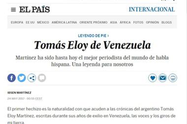 Tomás Eloy de Venezuela