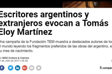 Escritores argentinos y extranjeros evocan a Tomás Eloy Martínez