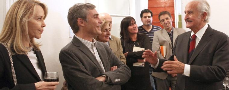 Carlos Fuentes y su esposa Silvia Lemus, durante su visita a la Fundación TEM en 2012. (Foto: Verónica Martínez)